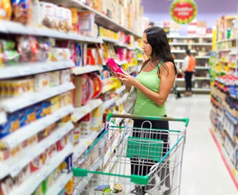 Food label development, nutritional facts and content claims
